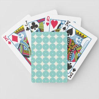 Pretty Teal Aqua Turquoise Blue Circles Discs Card Deck