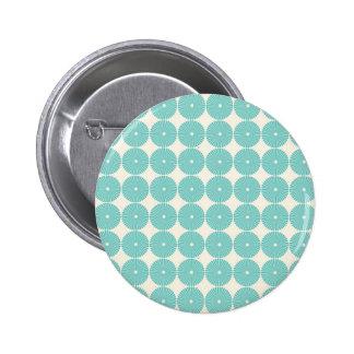 Pretty Teal Aqua Turquoise Blue Circles Disks Pin