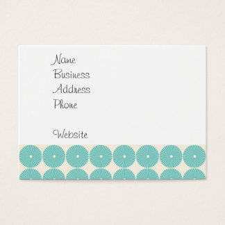 Pretty Teal Aqua Turquoise Blue Circles Disks Business Card