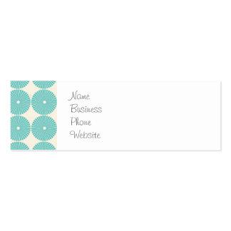 Pretty Teal Aqua Turquoise Blue Circles Disks Business Card Template