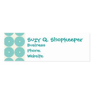 Pretty Teal Aqua Turquoise Blue Circles Disks Business Card Templates