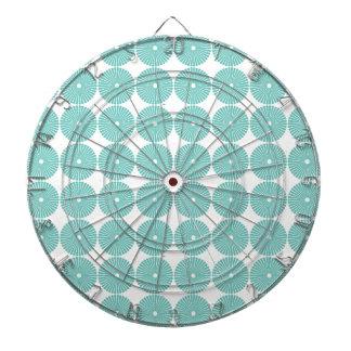 Pretty Teal Aqua Turquoise Blue Circles Disks Dartboards