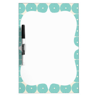 Pretty Teal Aqua Turquoise Blue Circles Disks Dry-Erase Whiteboards