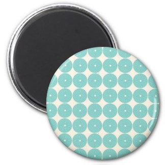 Pretty Teal Aqua Turquoise Blue Circles Disks Magnet