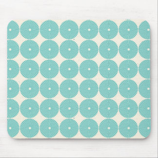 Pretty Teal Aqua Turquoise Blue Circles Disks Mouse Pad