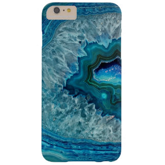 Pretty Teal Aqua Turquoise Geode Marble Pattern Barely There iPhone 6 Plus Case