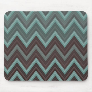 Pretty Teal Chevron Inspired Design - Zigzag Mouse Mat