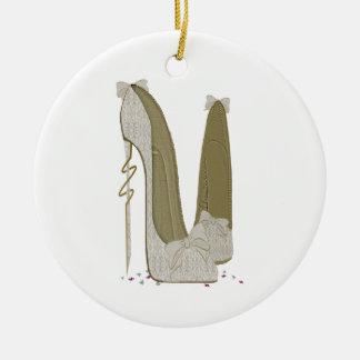 Pretty Things Wedding Stiletto Shoes Art Christmas Ornament