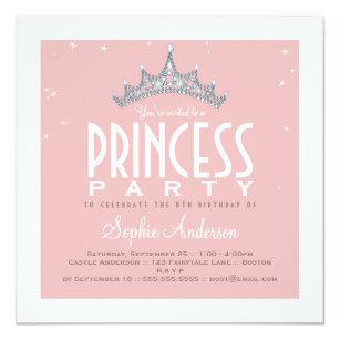 Princess birthday invitations zazzle uk pretty tiara princess birthday party invitation filmwisefo