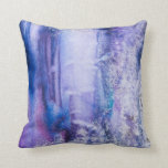 pretty tie dye abstract throw pillow