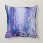 pretty tie dye abstract throw pillow