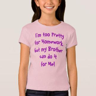 Pretty to do Homework T-shirt