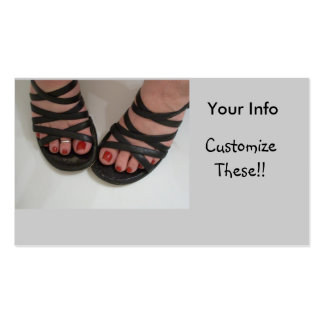 Pretty Toes Business Cards, Nail Tech Pack Of Standard Business Cards