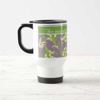 Pretty Travel Mug: Lilies of the Valley, Mauve Travel Mug