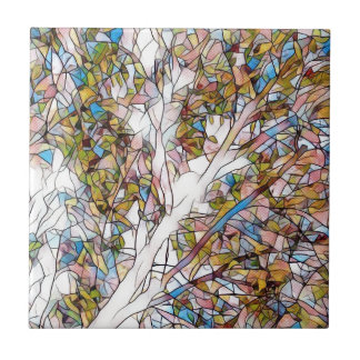 Pretty Tree Of Life Stained Glass Photomanipulatio Tile