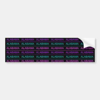Pretty Tri-Colored Alabama Bumper Sticker