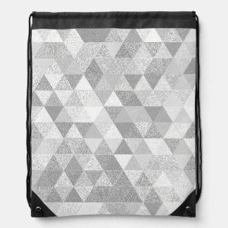 Pretty Triangle grunge pattern II + your ideas Drawstring Bag
