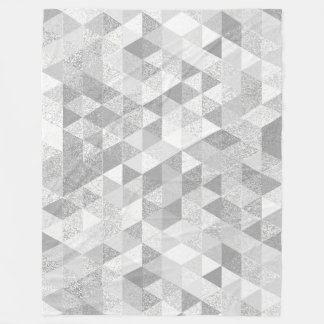 Pretty Triangle grunge pattern II + your ideas Fleece Blanket