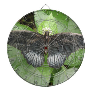Pretty Tropical Butterfly and Flowers Dart Board