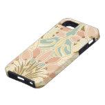 pretty tulips art nouveau floral pattern iPhone 5 cases