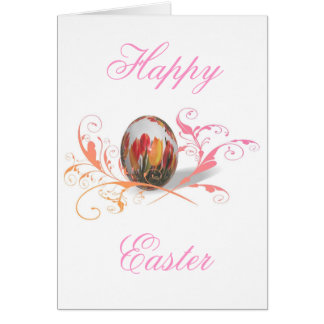 Pretty Tulips Easter Egg Card
