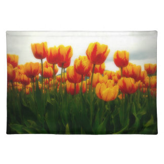 Pretty Tulips in Flower Field Placemats