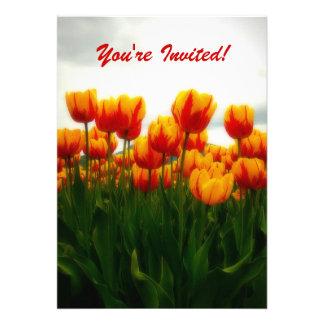 Pretty Tulips Party Invitation
