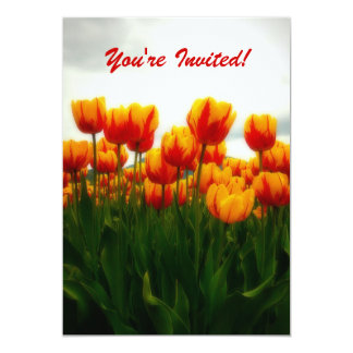 Pretty Tulips Party Invitation
