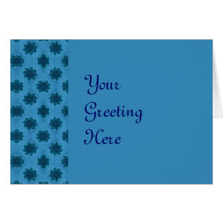 Pretty turquoise flower pattern greeting card