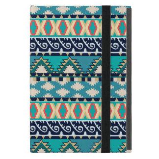 Pretty Turquoise Waves Vintage Tribal Geometric iPad Mini Case