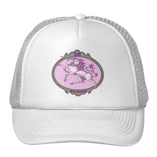 Pretty Unicorn 5th Birthday Gifts Mesh Hat