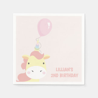 Pretty Unicorn Paper Napkins