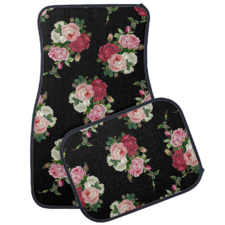 Pretty Victorian Cabbage Roses Car Mat