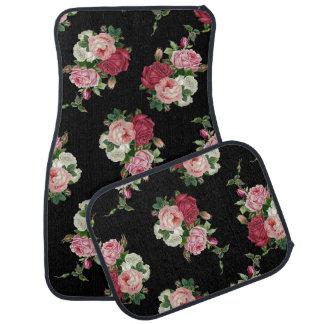 Pretty Victorian Cabbage Roses Floor Mat