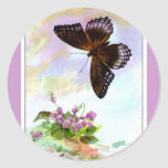 Pretty Vintage Butterfly Stickers