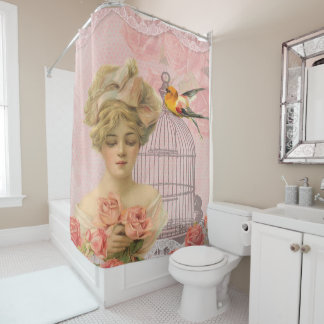 Pretty Vintage, Elegant Victorian, Collage Shower Curtain