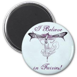 Pretty Vintage Fairy Decal 6 Cm Round Magnet