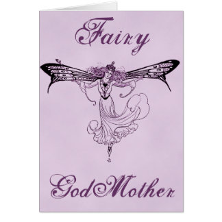 Pretty Vintage Fairy Decal Greeting Card