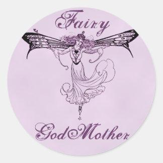 Pretty Vintage Fairy Decal Round Sticker
