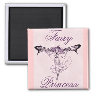 Pretty Vintage Fairy Decal Square Magnet