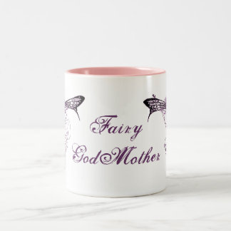 Pretty Vintage Fairy Decal Two-Tone Coffee Mug