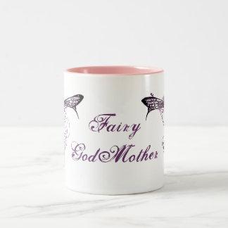 Pretty Vintage Fairy Decal Two-Tone Mug