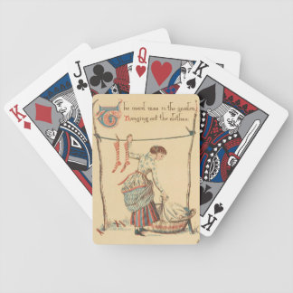 Pretty Vintage Lady Bicycle Playing Cards