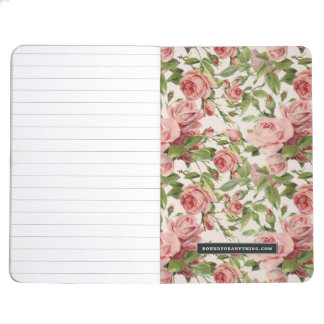 Pretty Vintage Pink Roses Journal