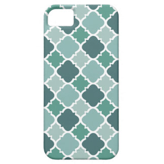 Pretty Vintage Quatrefoil Pattern in Muted Green iPhone 5 Case