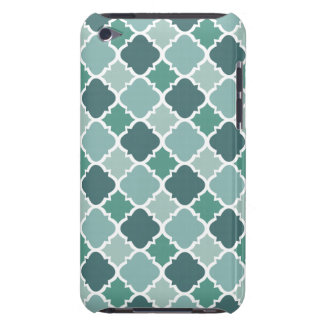 Pretty Vintage Quatrefoil Pattern in Muted Green Barely There iPod Cases
