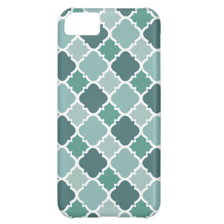 Pretty Vintage Quatrefoil Pattern in Muted Green Case For iPhone 5C