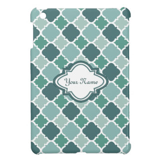 Pretty Vintage Quatrefoil Pattern in Muted Green Cover For The iPad Mini