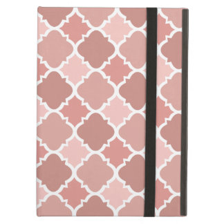 Pretty Vintage Quatrefoil Pattern in Muted Pink Cover For iPad Air