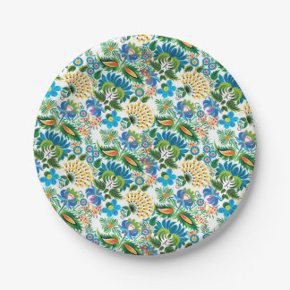 Pretty Vintage Russian Khokhloma 7 Inch Paper Plate